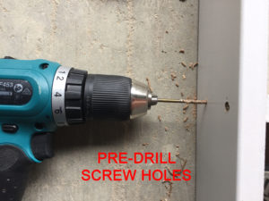 Pre Drill Screw Holes
